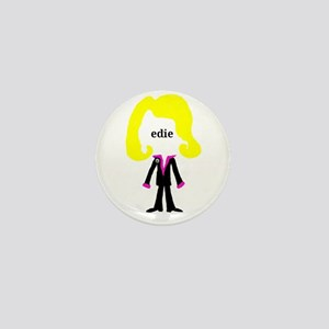 Edie with Pin Mini Button