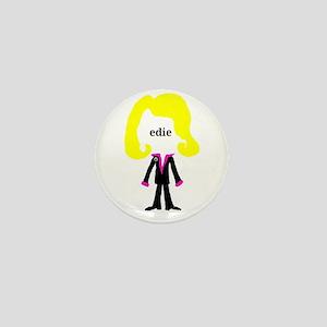 Edie with Pin Mini Button