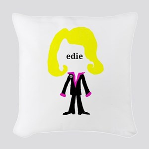 Edie with Pin Woven Throw Pillow