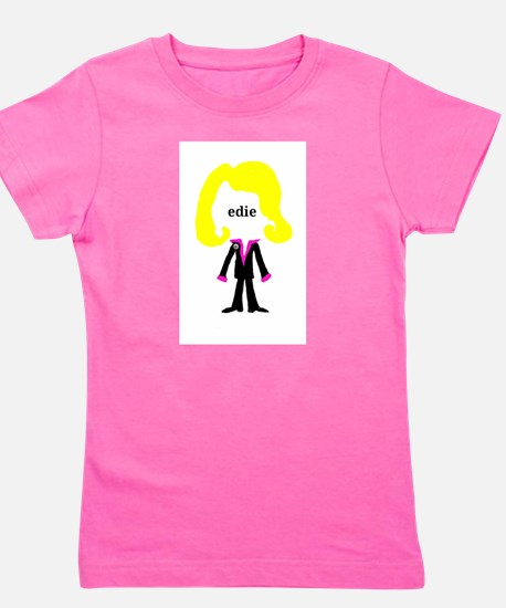 Edie with Pin Girl's Tee