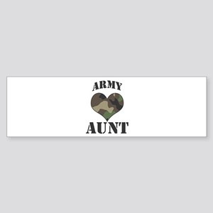 Aunt: Camo Heart Bumper Sticker