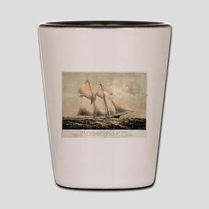 The yacht Dauntless of New York - 1869 Shot Glass
