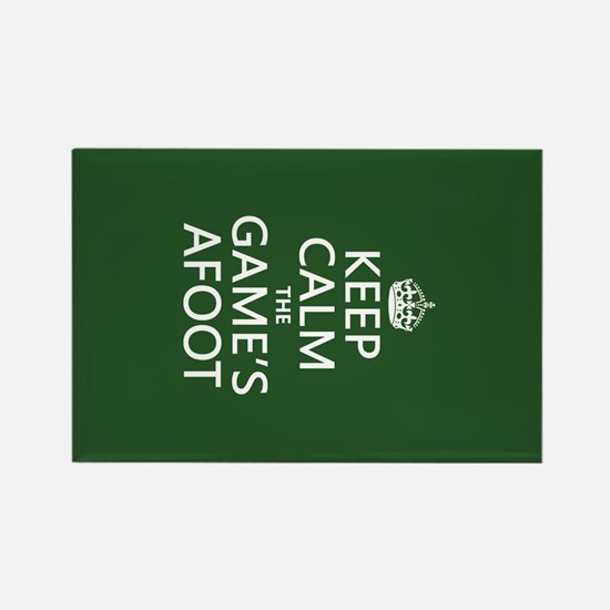 Keep Calm the Game's Afoot Rectangle Magnet