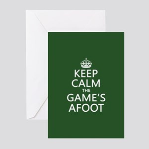 Keep Calm the Game's Afoot Greeting Cards (Pk of 2