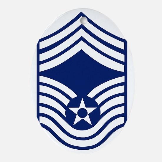 USAFChiefMasterSergeantBonnie.gif Oval Ornament