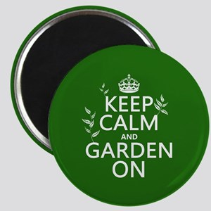 Keep Calm and Garden On Magnet