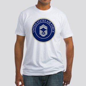 USAFChiefMasterSergeantCapCrest Fitted T-Shirt