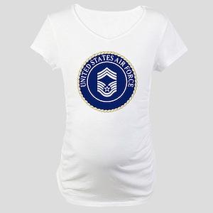 USAFChiefMasterSergeantCapCrest. Maternity T-Shirt
