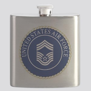USAFChiefMasterSergeantCapCrest Flask