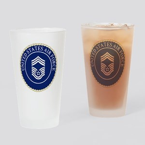 USAFChiefMasterSergeantCapCrest Drinking Glass