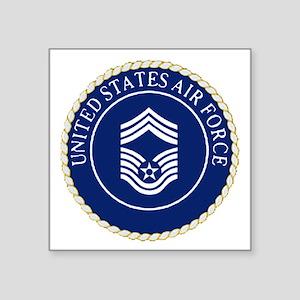 "USAFChiefMasterSergeantCapC Square Sticker 3"" x 3"""
