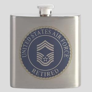 USAFRetiredChiefMasterSergeantCapDevice Flask
