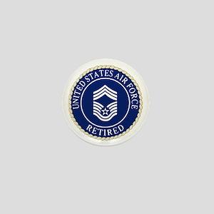 USAFRetiredChiefMasterSergeantCapDevic Mini Button
