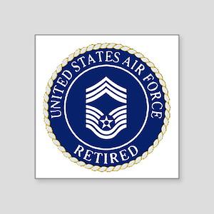 "USAFRetiredChiefMasterSerge Square Sticker 3"" x 3"""