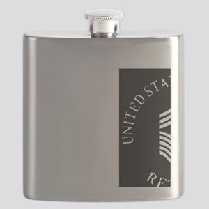USAFRetiredChiefMasterSergeantBlackCap Flask