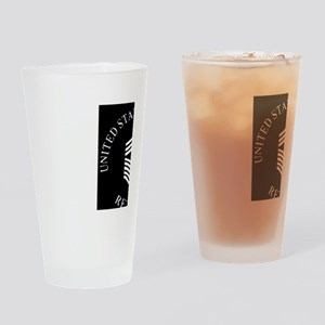 USAFRetiredChiefMasterSergeantBlack Drinking Glass