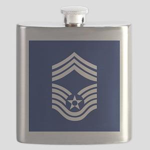 USAFChiefMasterSergeantCoaster Flask