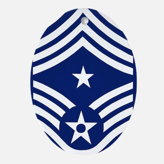 USAFCommandChiefMasterSergeantBonnie Oval Ornament