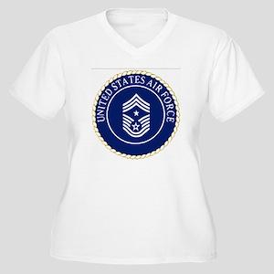 USAFCommandChiefM Women's Plus Size V-Neck T-Shirt
