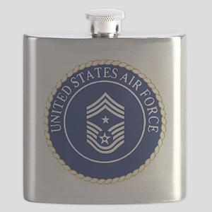 USAFCommandChiefMasterSergeantCapCrest Flask