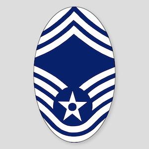 USAFSeniorMasterSergeantForCups Sticker (Oval)