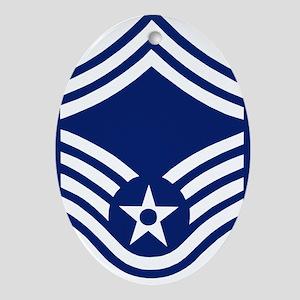 USAFSeniorMasterSergeantForCups Oval Ornament
