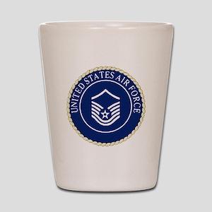 USAFMasterSergeantCapCrest Shot Glass