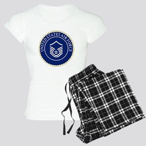 USAFMasterSergeantCapCrest. Women's Light Pajamas