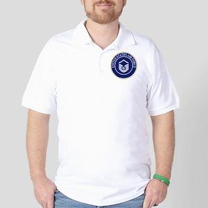 USAFMasterSergeantCapCrest Golf Shirt