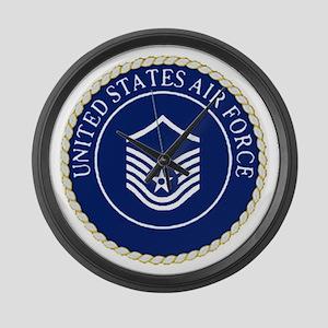 USAFMasterSergeantCapCrest Large Wall Clock
