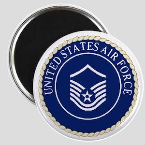 USAFMasterSergeantCapCrest Magnet