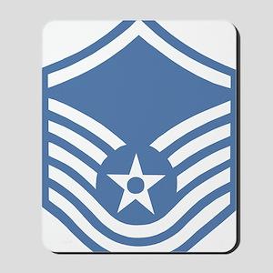 USAFMasterSergeantBlueMeshCap Mousepad