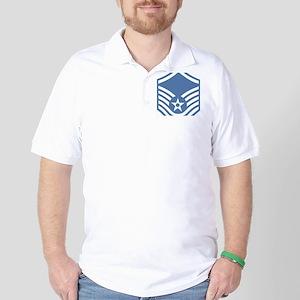 USAFMasterSergeantBlueMeshCap Golf Shirt