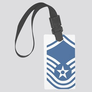 USAFMasterSergeantBlueMeshCap.gi Large Luggage Tag