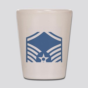 USAFMasterSergeantBlueMeshCap Shot Glass