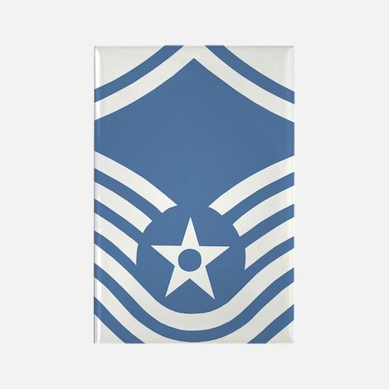 USAFMasterSergeantBlueMeshCap.gif Rectangle Magnet