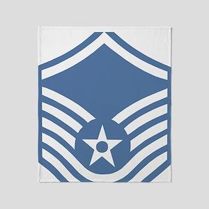 USAFMasterSergeantBlueMeshCap Throw Blanket