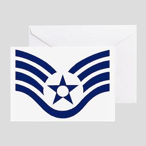 USAFStaffSergeantMessengerBag Greeting Card