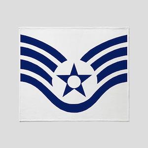 USAFStaffSergeantMessengerBag Throw Blanket