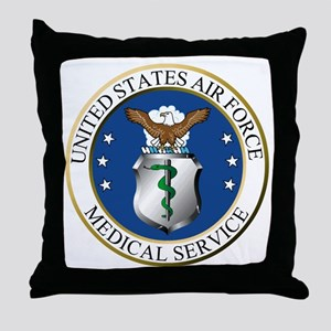 USAFMedicalServiceLogoDennis Throw Pillow