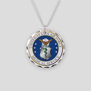 USAFMedicalServiceLogoDennis Necklace Circle Charm