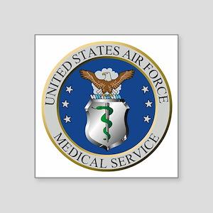 "USAFMedicalServiceLogoForCo Square Sticker 3"" x 3"""
