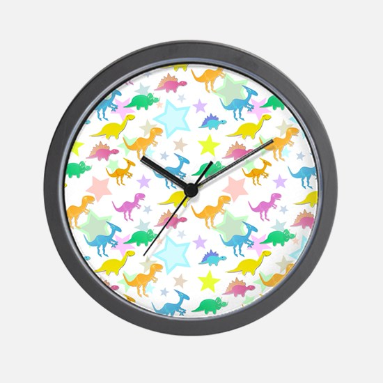 Cute Dinosaurs Pattern Wall Clock