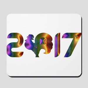 2017 YEAR OF THE ROOSTER Mousepad