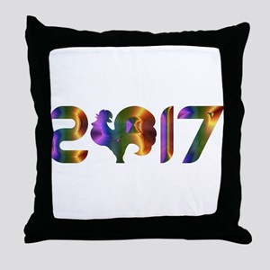 2017 YEAR OF THE ROOSTER Throw Pillow
