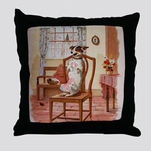 The Dog Was Laughing, Old Mother Hubb Throw Pillow