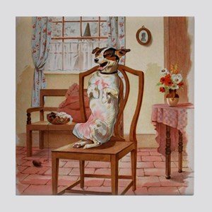 The Dog Was Laughing, Old Mother Hubb Tile Coaster