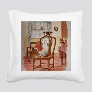 The Dog Was Laughing, Old Mot Square Canvas Pillow