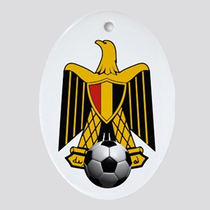Egyptian Football Eagle Oval Ornament