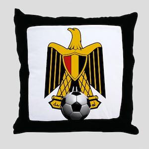 Egyptian Football Eagle Throw Pillow
